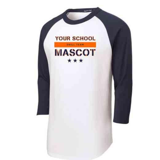Drill Team Adult Sport-Tek Baseball T-Shirt