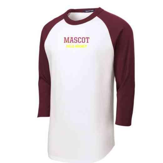 Field Hockey Adult Sport-Tek Baseball T-Shirt
