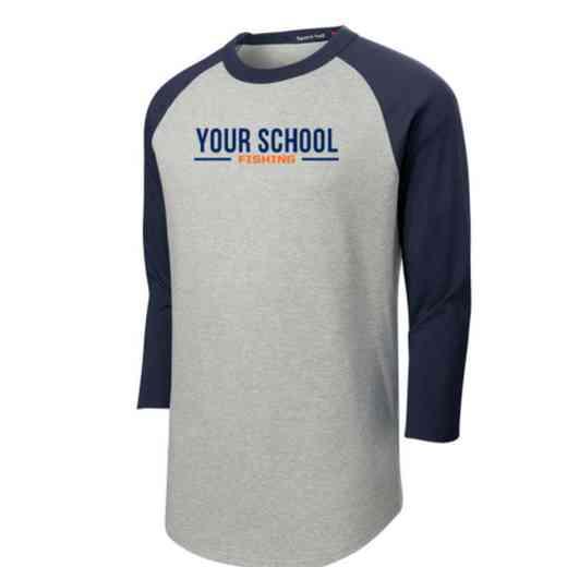 Fishing Adult Sport-Tek Baseball T-Shirt