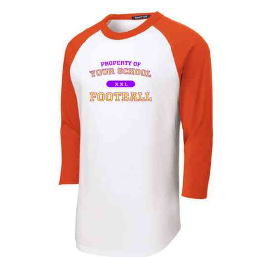 Football Adult Sport-Tek Baseball T-Shirt