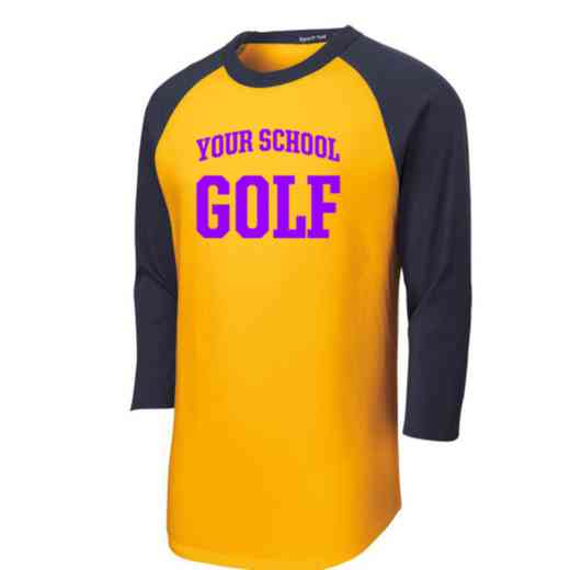 Golf Adult Sport-Tek Baseball T-Shirt