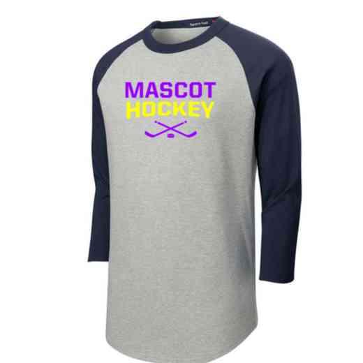 Hockey Adult Sport-Tek Baseball T-Shirt