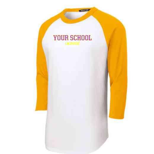 Lacrosse Adult Sport-Tek Baseball T-Shirt