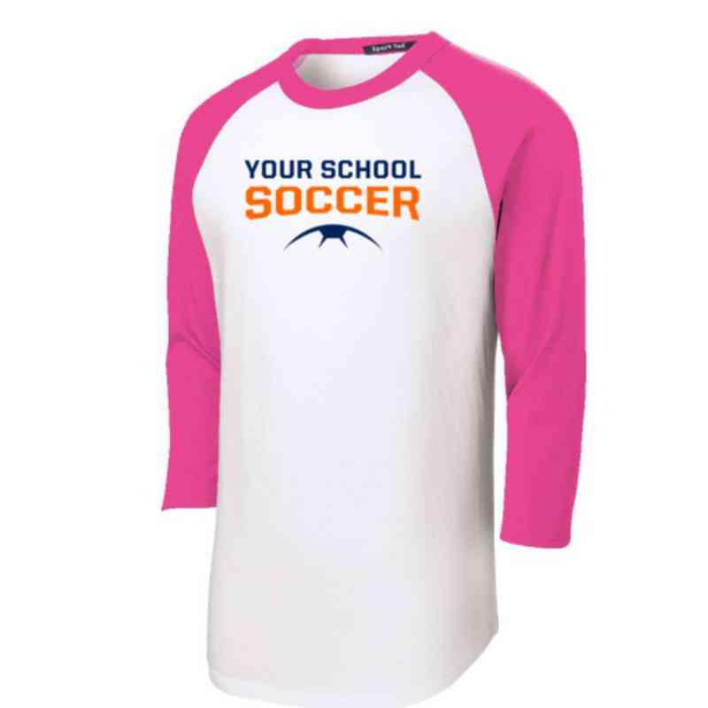 Soccer Adult Sport-Tek Baseball T-Shirt