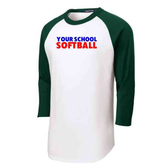 Softball Adult Sport-Tek Baseball T-Shirt