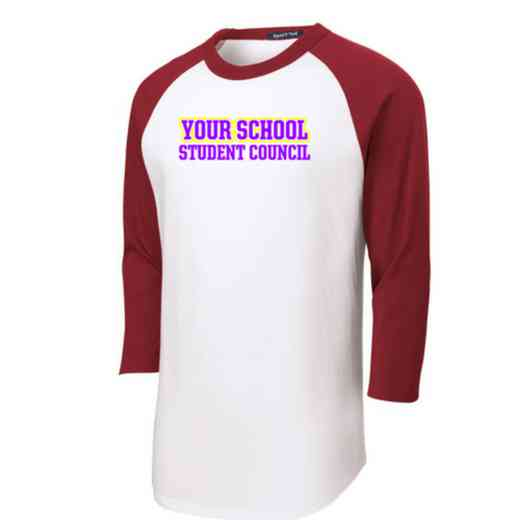 Student Council Adult Sport-Tek Baseball T-Shirt