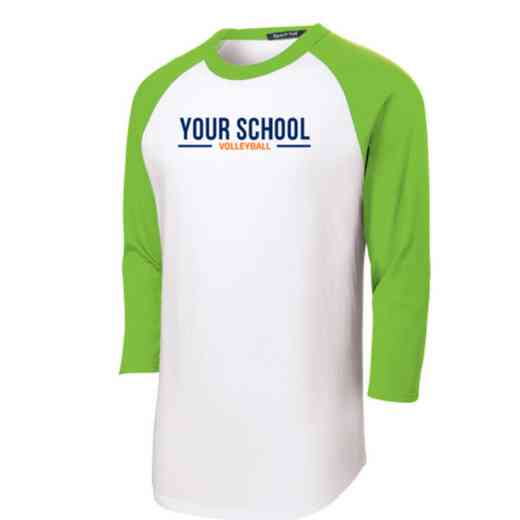Volleyball  Adult Sport-Tek Baseball T-Shirt