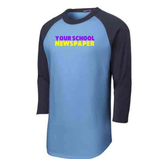 Newspaper Adult Sport-Tek Baseball T-Shirt