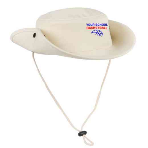 Basketball Embroidered Canvas Outback Hat