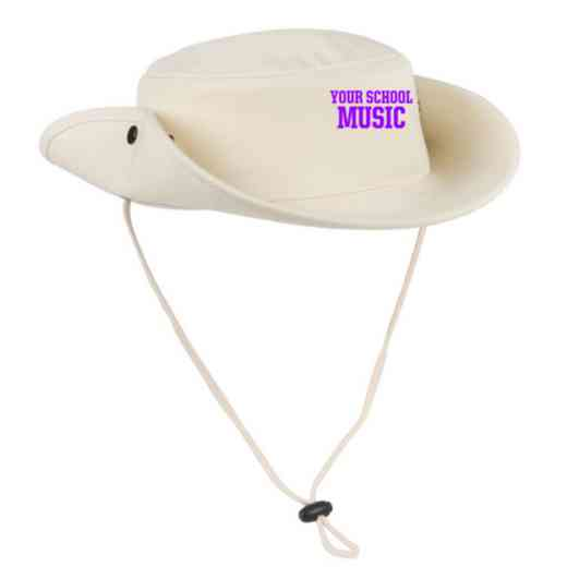 Music Embroidered Canvas Outback Hat