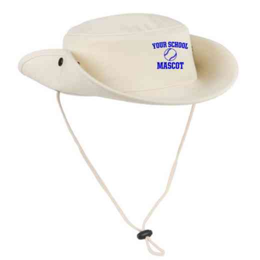 Softball Embroidered Canvas Outback Hat