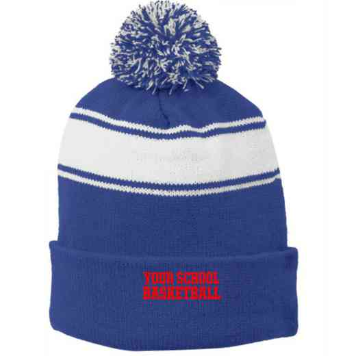 Basketball Embroidered Pom Beanie