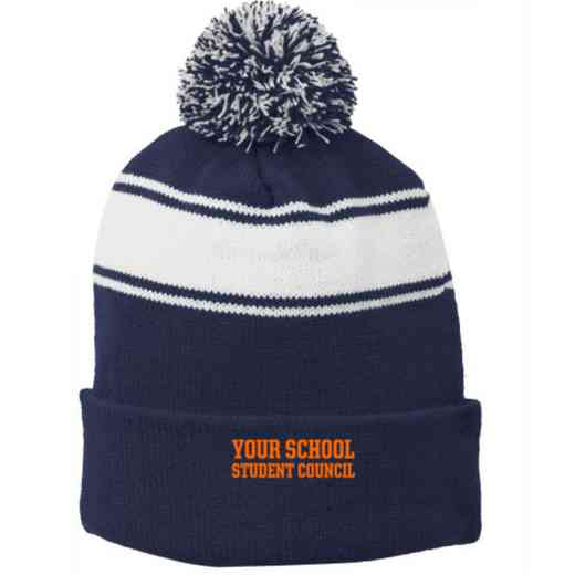 Student Council Embroidered Pom Beanie