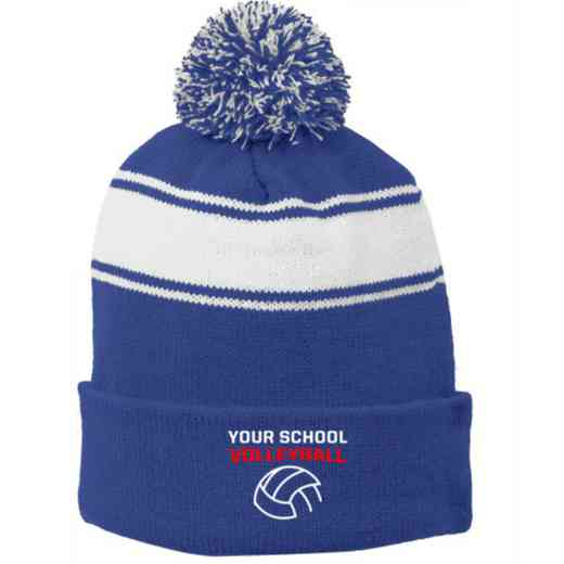 Volleyball  Embroidered Pom Beanie