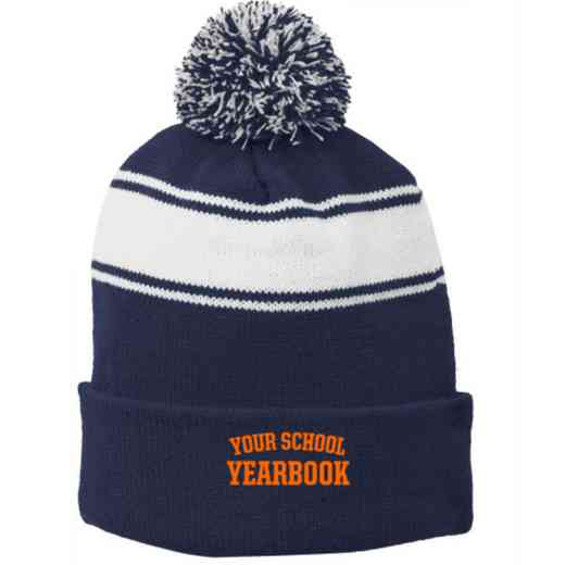 Yearbook Embroidered Pom Beanie