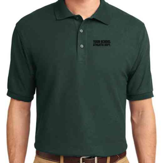 Athletic Department Embroidered Youth Silk Touch Polo