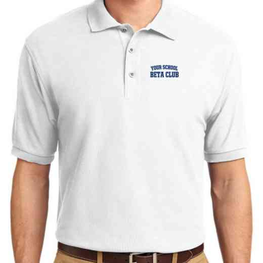 Beta Club Embroidered Youth Silk Touch Polo