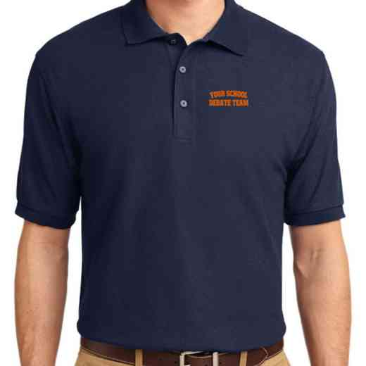 Debate Team Embroidered Youth Silk Touch Polo