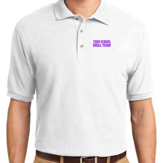 Drill Team Embroidered Youth Silk Touch Polo