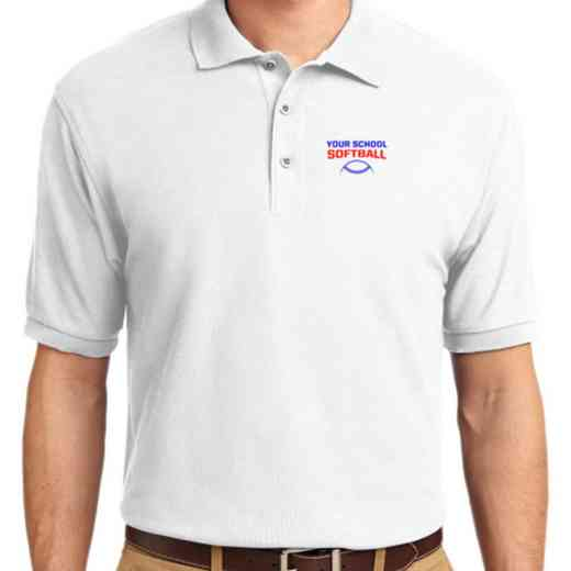 Softball Embroidered Youth Silk Touch Polo