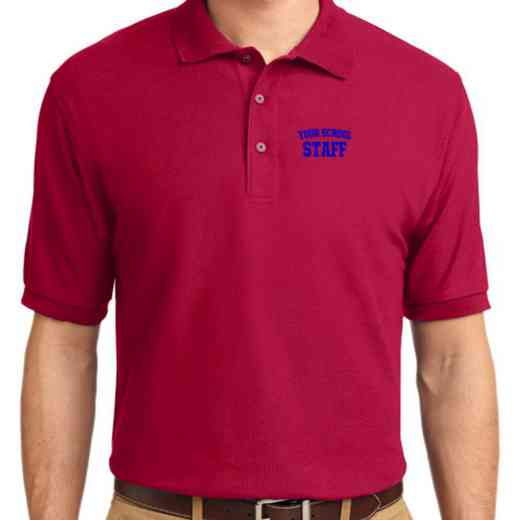 Staff Embroidered Youth Silk Touch Polo