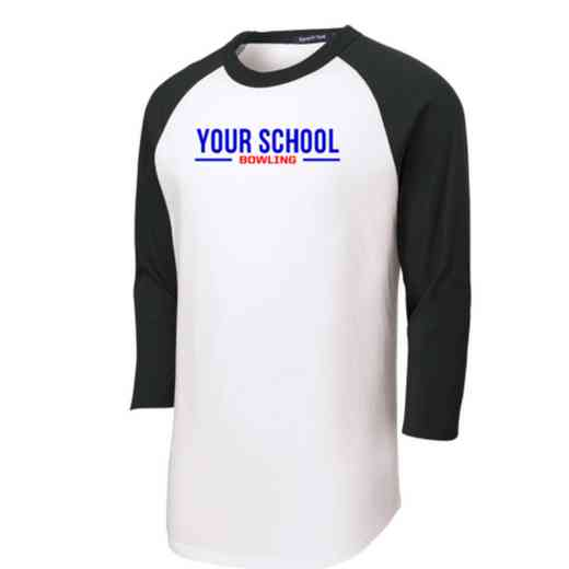 Bowling Youth Sport-Tek Baseball T-Shirt
