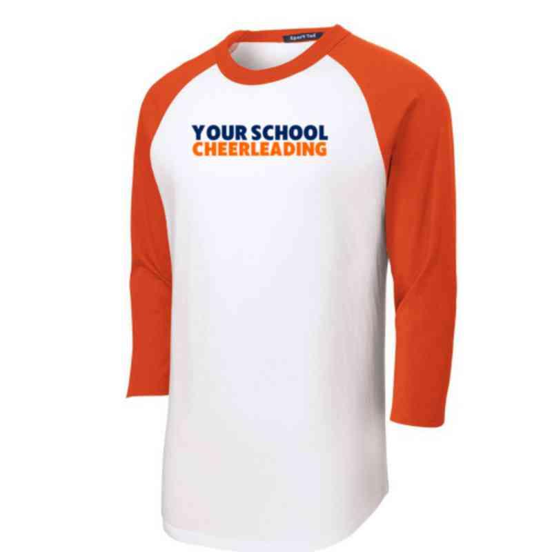 Cheerleading Youth Sport-Tek Baseball T-Shirt