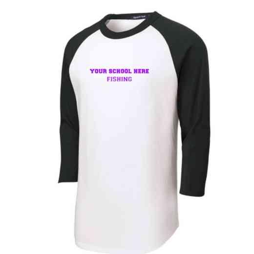 Fishing Youth Sport-Tek Baseball T-Shirt