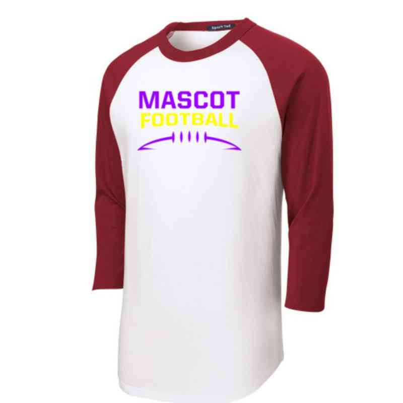 Football Youth Sport-Tek Baseball T-Shirt