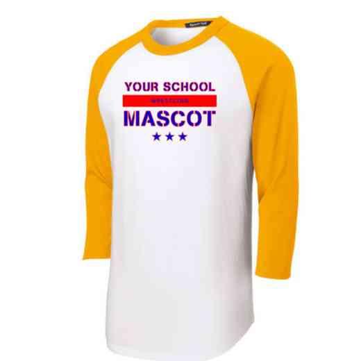 Wrestling Youth Sport-Tek Baseball T-Shirt