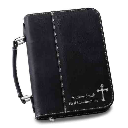 GC1441 Black: Personalized Large Bible Case BLK
