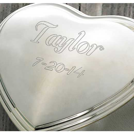 GC132: Personalized Heart Trinket Box