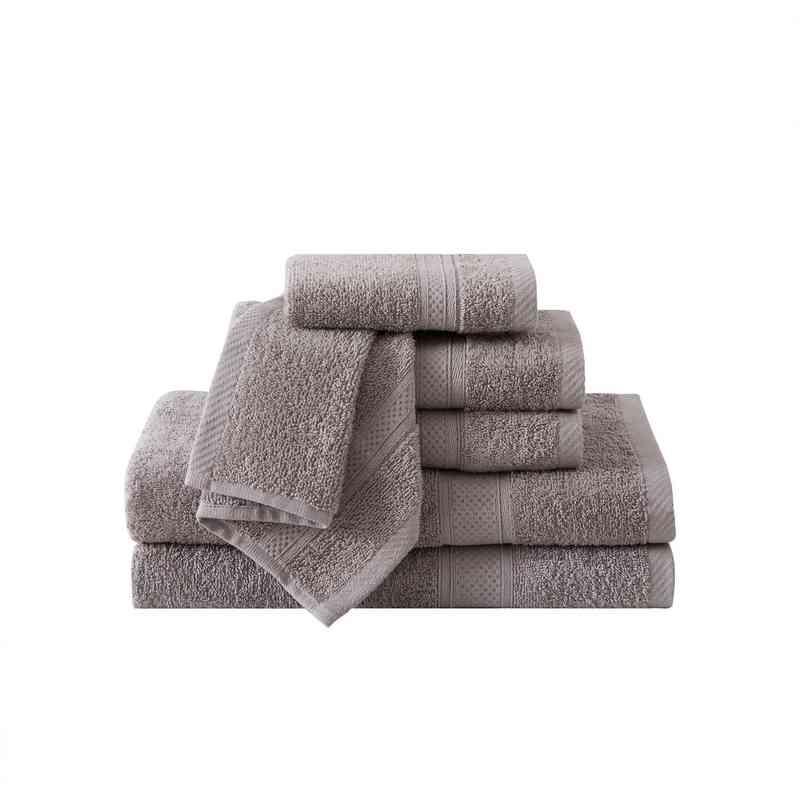 CD2-TWL-6PCT-IN: VCNY Classic Dobby  6PC Towel Set  - Grey