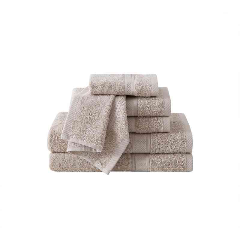 CD2-TWL-6PCT-IN: VCNY Classic Dobby  6PC Towel Set  - Sand