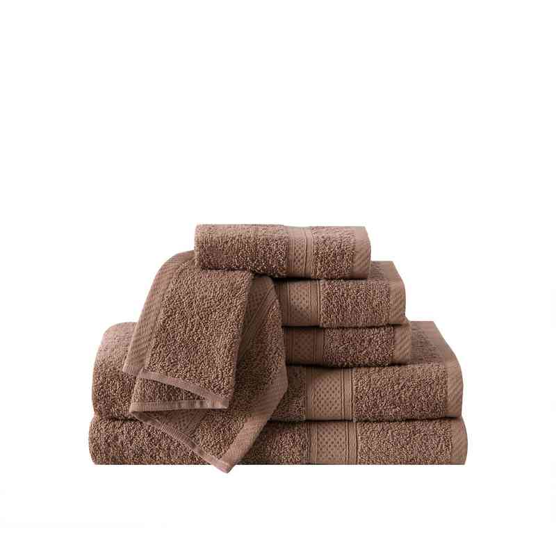 CD2-TWL-6PCT-IN: VCNY Classic Dobby 6PC Towel Set  - Mocha