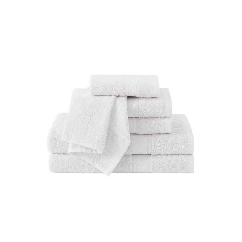 CD2-TWL-6PCT-IN: VCNY Classic Dobby 6PC Towel Set  - White