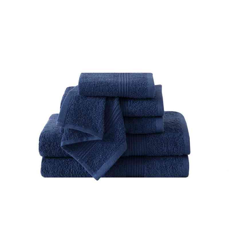 RBL-TWL-6PCT-IN: VCNY Ribbed Luxury  6PC Towel Set  - Indigo Blue