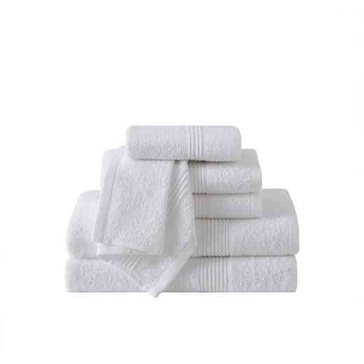RBL-TWL-6PCT-IN: VCNY Ribbed Luxury  6PC Towel Set  - White