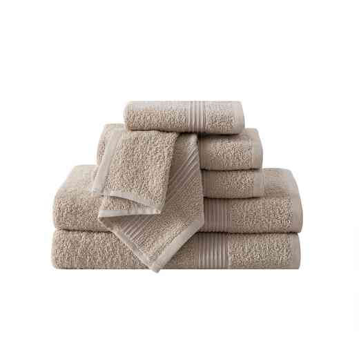 RBL-TWL-6PCT-IN: VCNY Ribbed Luxury 6PC Towel Set  - Sand