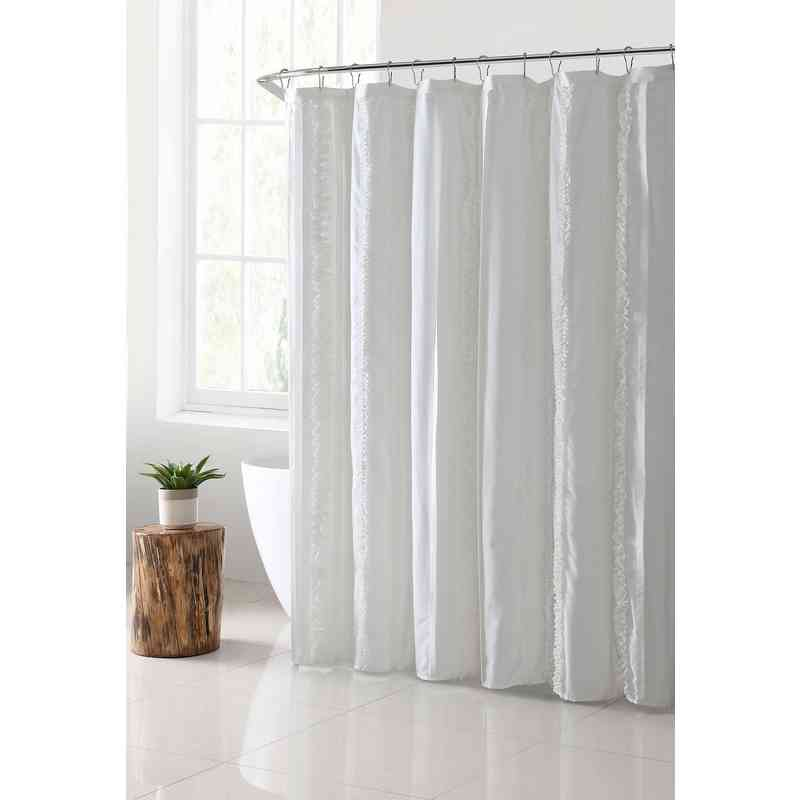 Hope Solid Shower Curtain- White