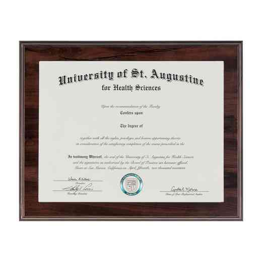 SDN13: JDS CHERRY DIPLOMA FRAME W/ WINDOW 8.5X11