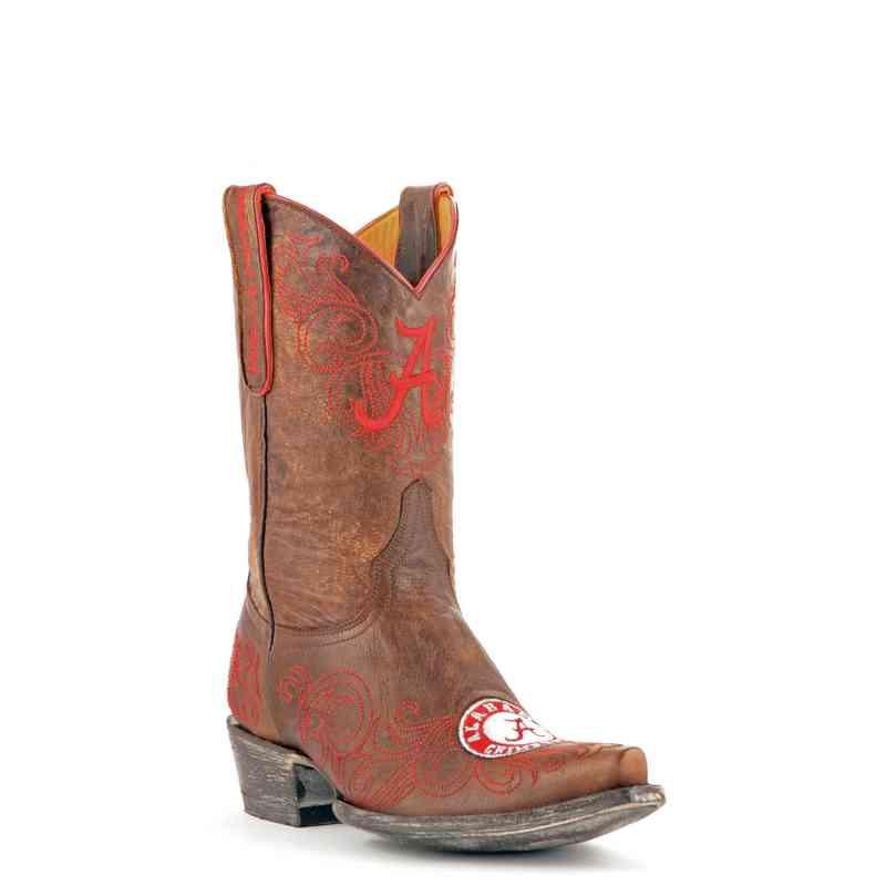Women's Alabama Crimson Tide Brass Tailgate Cowgirl Boots