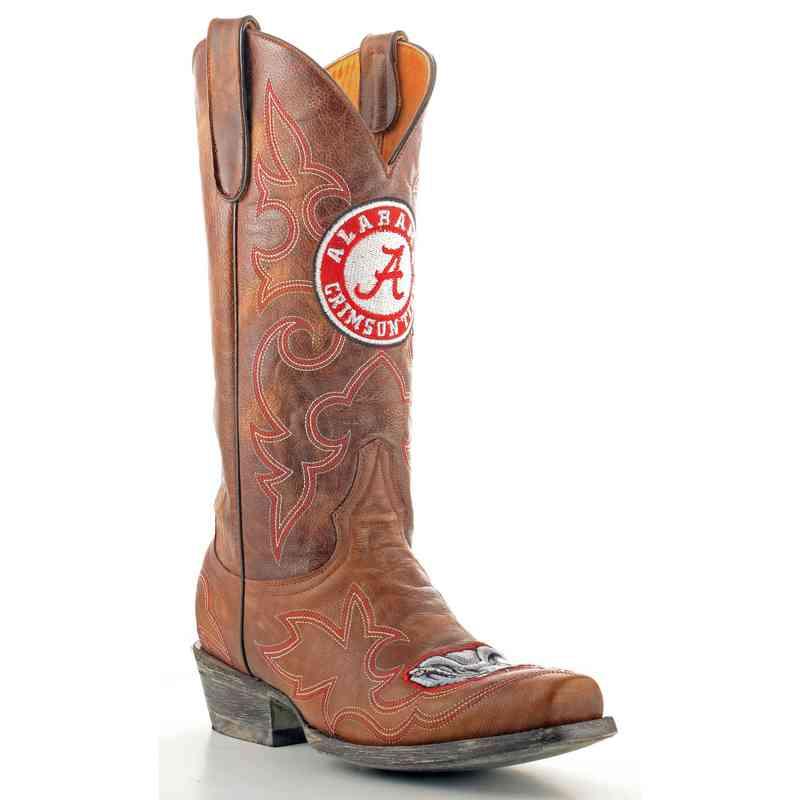 Men's Alabama Crimson Tide Brass Tailgate Cowboy Boots