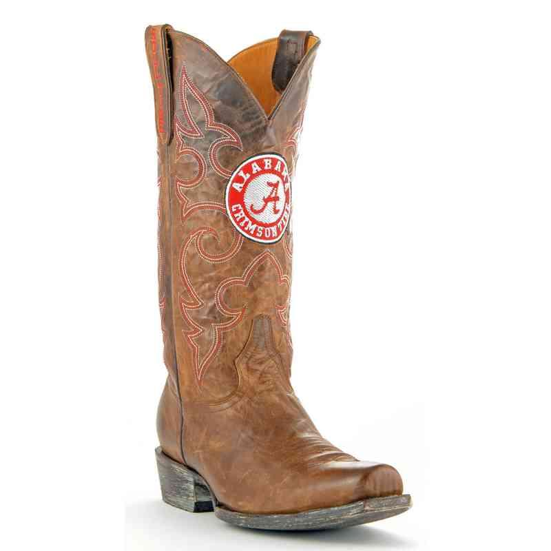 Men's Alabama Crimson Tide Brass Executive Cowboy Boots