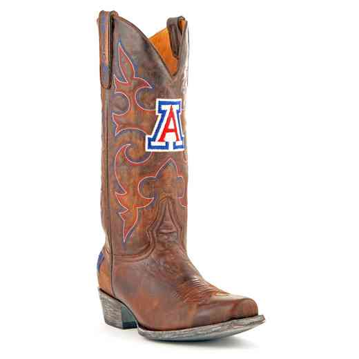 Men's Arizona Wildcats Brass Executive Cowboy Boots by Gameday Boots