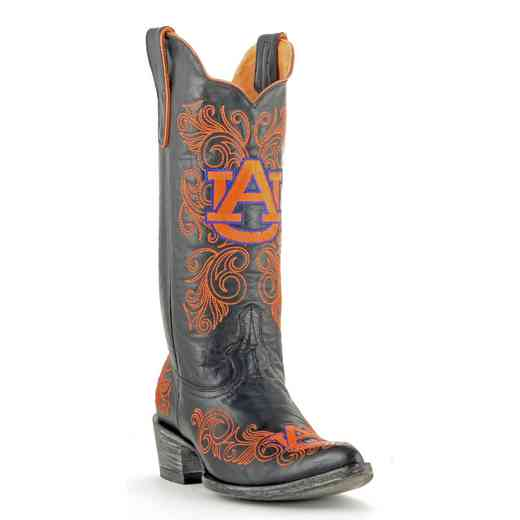 "Women's 13"" Auburn Tigers Black Tailgate Cowgirl Boots by Gameday Boots"