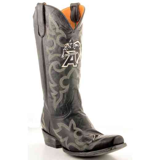 Men's West Point Black Knights Tailgate Black Cowboy Boots by Gameday Boots