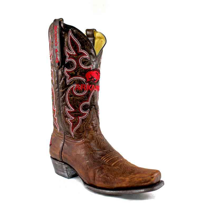 Men's Arkansas Razorback Brass Executive Cowboy Boots
