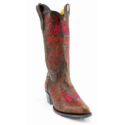 "Women's 13"" Ole Miss Rebels Tailgate Cowgirl Boots by Gameday Boots"