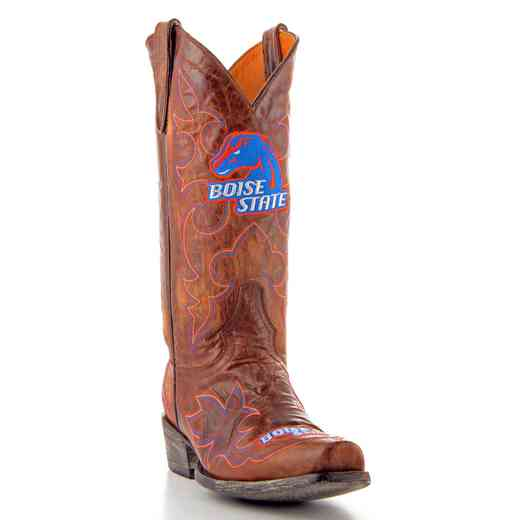 Men's Boise State Broncos Tailgate Brass Cowboy Boots by Gameday Boots